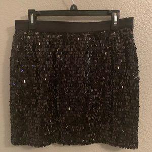 New Joe Fresh Black sequin skirt XL